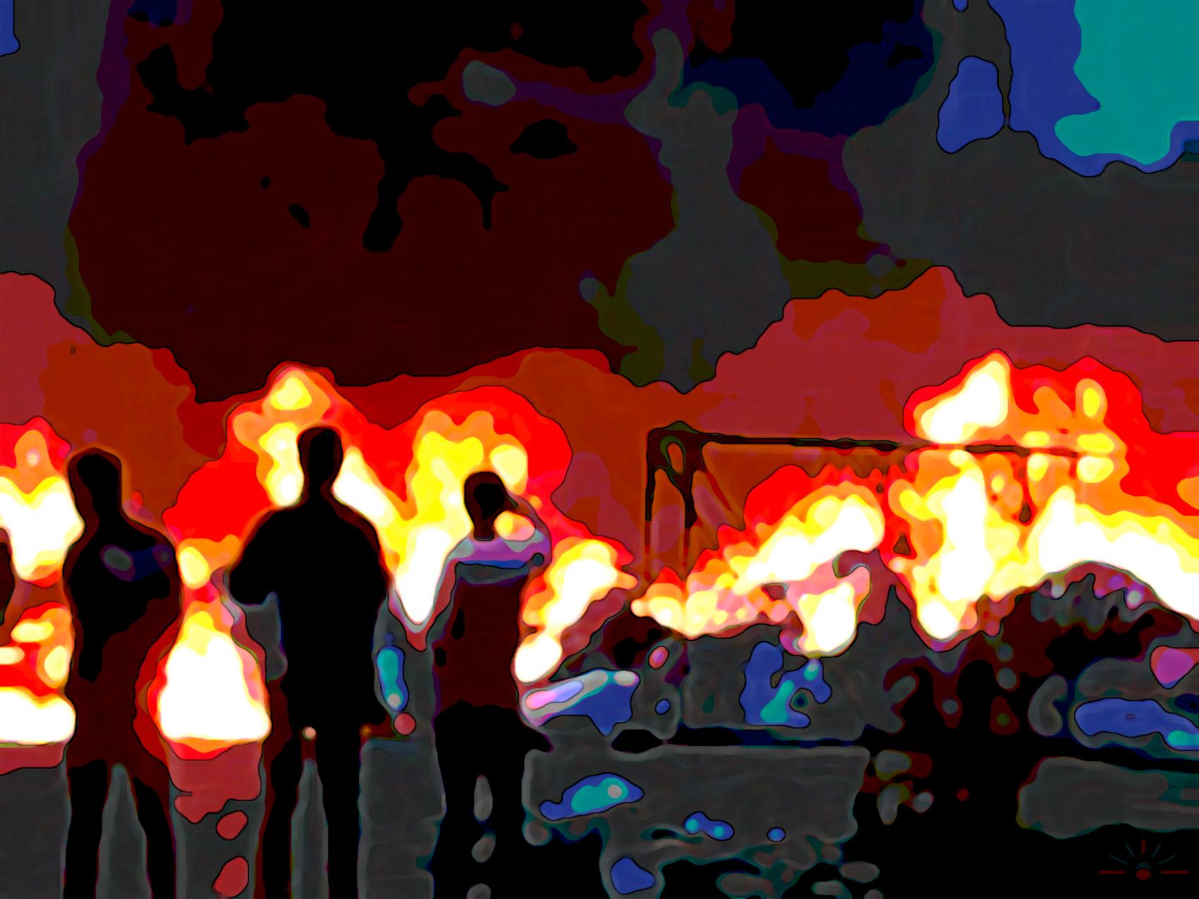 Wamena village burning